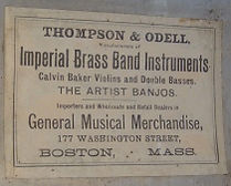 Thompson & Odell Drum Label