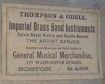Thompson & Odell Drum Label