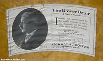 1924 Harry A. Bower Drum Label