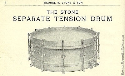 Geo. B. Stone Separate Tension Drum from Catalog H, ca. 1915