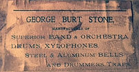 Early George Burt Stone Drum Label