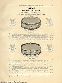 Ditson Wonderbook No. 4, 1910 - Oliver Ditson Special Orchestra Drums