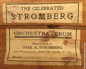 Stromberg Orchestra Drum Label ca. 1906 - 1910