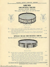 Ditson Wonderbook No. 4, 1910 - Oliver Ditson Special Orchestra Drums & Single Head Orchestra Drum
