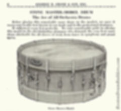 Stone Master-Model Drum from Catalog K, 1925