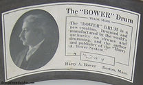 Harry A. Bower Snare Drum Label #354
