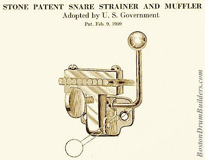 Stone Patent Snare Strainer and Muffler