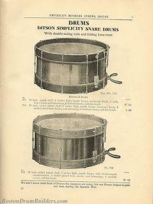 Ditson Wonderbook No. 4, 1910 - Ditson Simplicity Snare Drums
