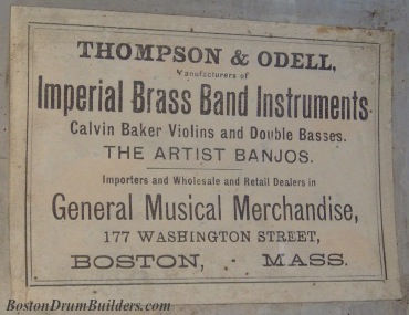 Thompson & Odell Label, ca. 1880s