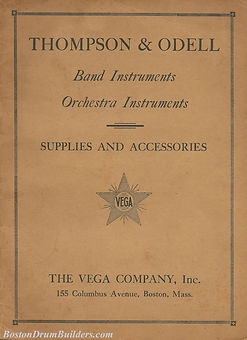 Vega / Thompson & Odell Band Instrument Catalog, ca. 1910s