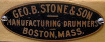 George B. Stone & Son Drum Badge, 1910s - 1922