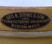 George B. Stone & Son Drum Badge