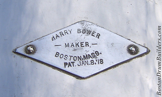 Harry A. Bower Drum Badge