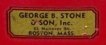 George B. Stone & Son Drum Decal, ca. late 1930s