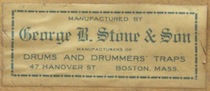 George B. Stone & Son Drum Label