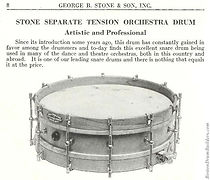 1925 George B Stone & Son Drum Catalog