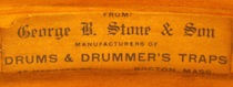 George B. Stone & Son Drum Label, ca. mid 1910s
