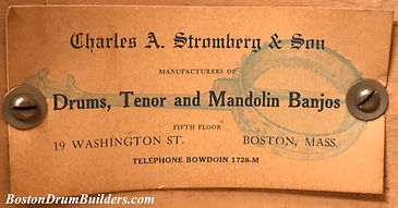 Charles A. Stromberg & Son Drum Label, ca. early 1920s