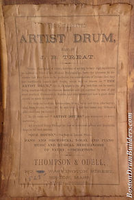 J. B. Treat Drum Label for Thompson & Odell