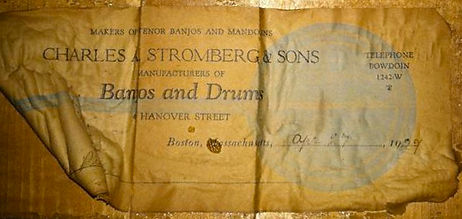 1927 Charles A. Stromberg & Sons Label