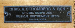 Charles A. Stromberg & Son Drum Badge, ca. 1920s