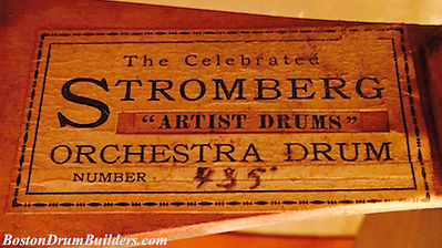 Stromberg Artist Drum Label ca. 1905