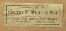 George B. Stone & Son Drum Label