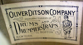 Oliver Ditson Company Drum Label, ca. 1910s