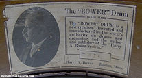 Harry A. Bower Drum Label, March 31, 1921