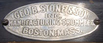 George B. Stone & Son Drum Badge, ca. 1923