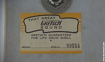 1960s Gretsch Drum Label