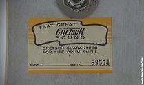 1960s Gretsch Drum Label