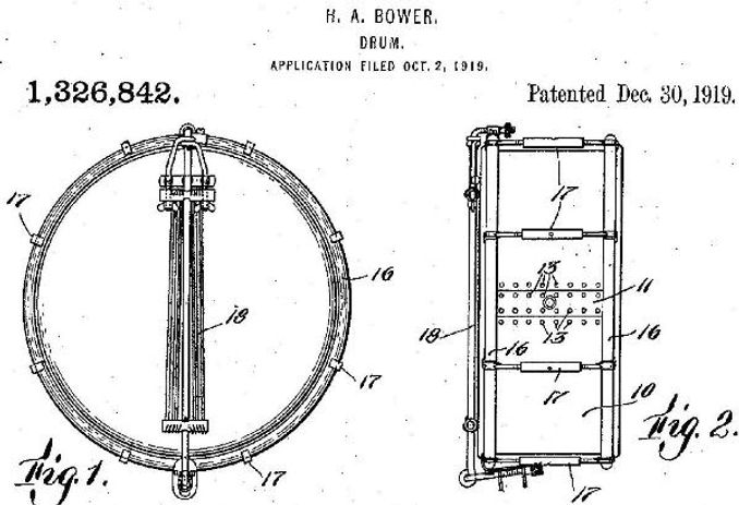 US Patent 1,326,842 - Harry A. Bower Drum