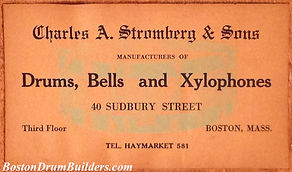 Charles A. Stromberg & Sons Drum Label, ca. late 1910s