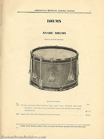 Ditson Wonderbook No. 4, 1910 - Regulation Model Snare Drums