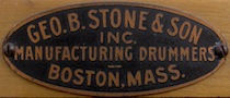 George B. Stone & Son Drum Badge, 1922 - 1930s