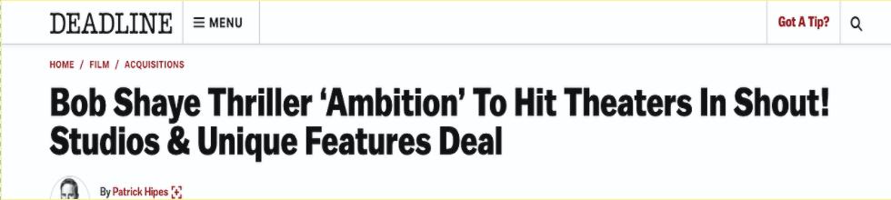 Jenna Wright - Ambition, Deadline - 5.30