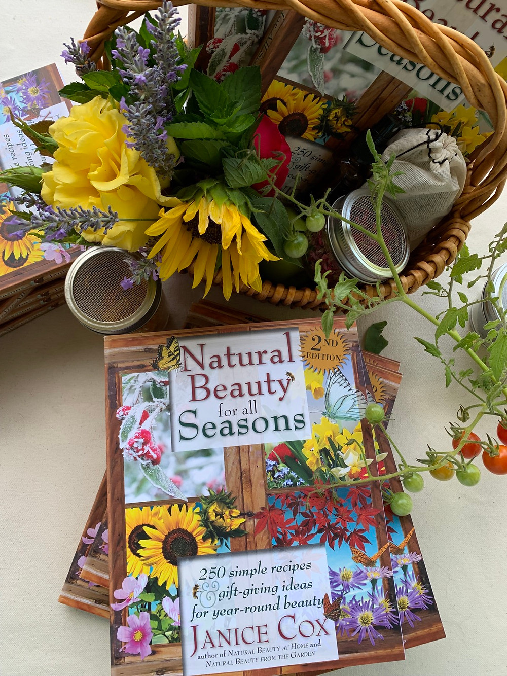 Natural Beauty for All Seasons Book basket