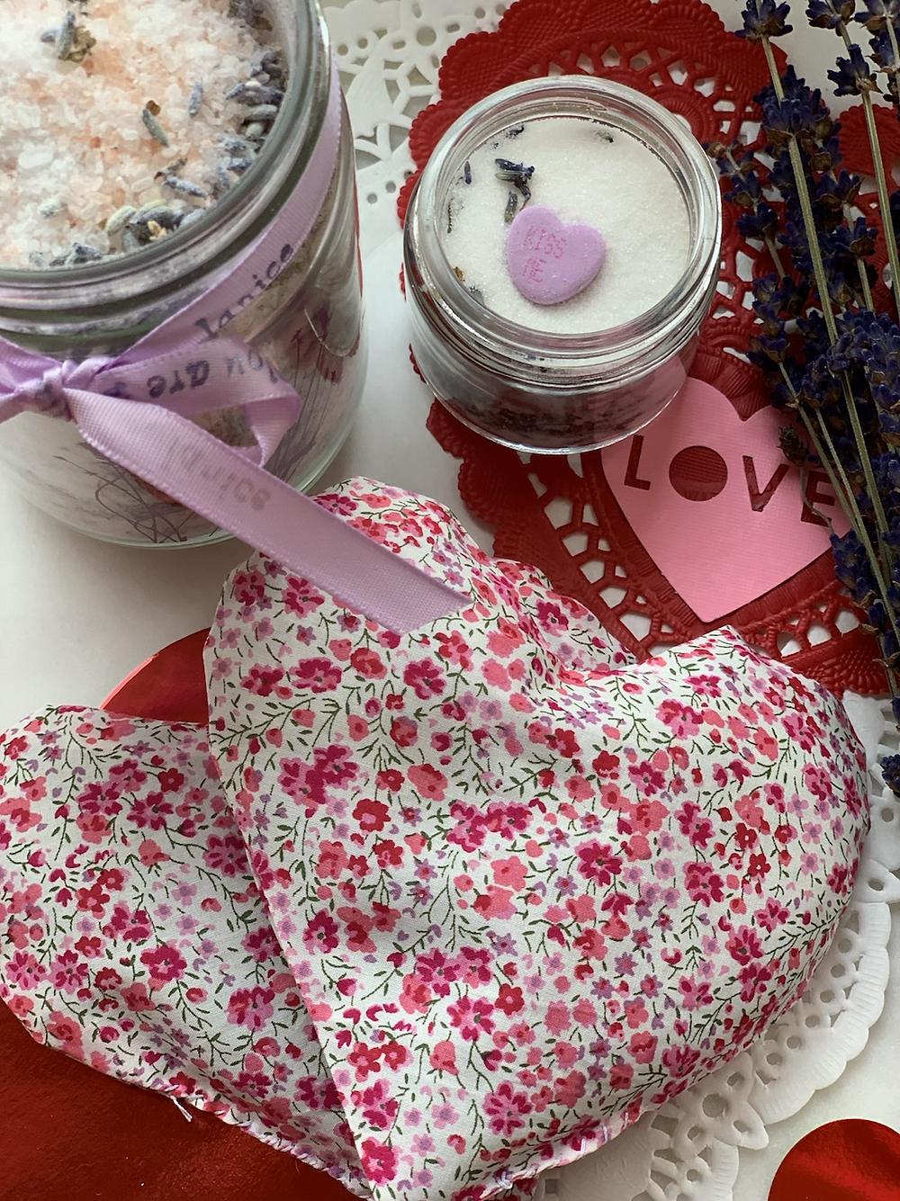 Homemade bodycare products for Valentine's day gifts