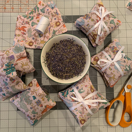 Making Lavender Sachets