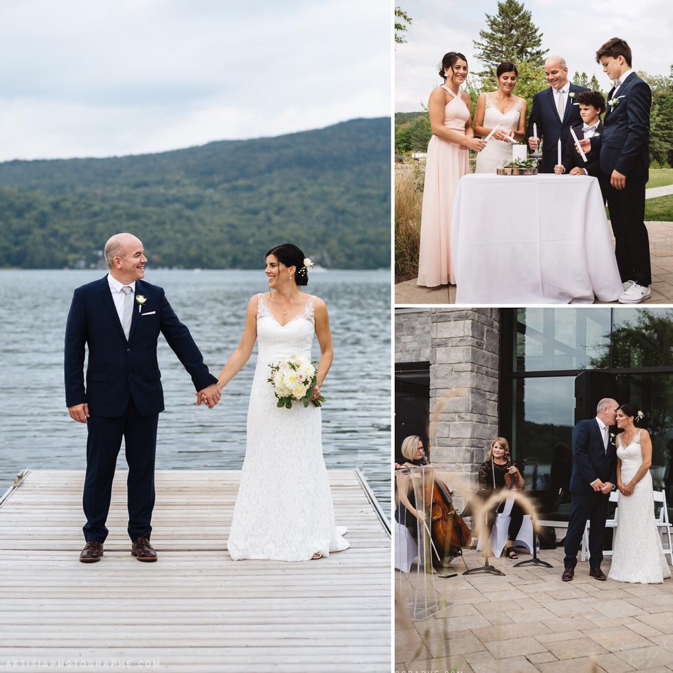 Tout était en douceur au mariage de Mélanie et François, même la musique!