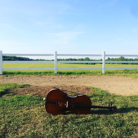 Le violoncelle a eu chaud en ce samedi de juillet, mais la vue en vallait le coup!
