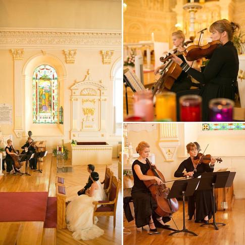 Duo violoncelle & violon pour un mariage lumineux à L'islet.