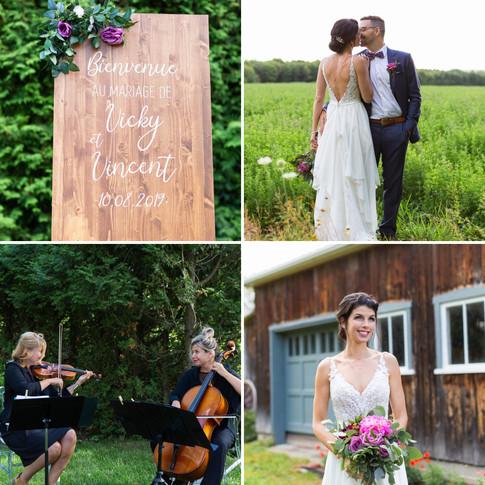 Vincent et Vicky savaient exactement ce qu'ils souhaitaient comme musique pour donner le ton à leur cérémonie. Ils avaient envie d'une ambiance légère, festive et contemporaine.