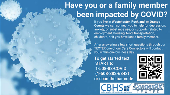 Have you or a family member been impacted by COVID? Contact HDSW Living Room 914-882-865 For Support