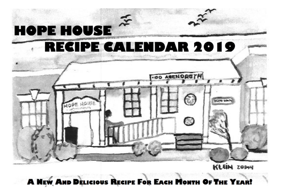 Hope House Recipe Calendar 2019