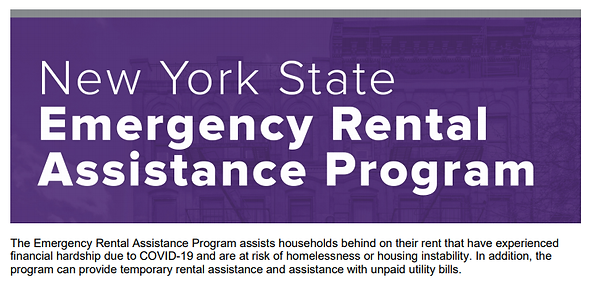 NYS Emergency Rental Assistance Program.