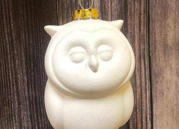 3D Owl Ornament w/ Gold Cap