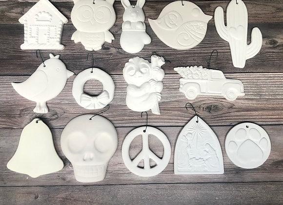 Set of 2 Medium Flat Ornaments