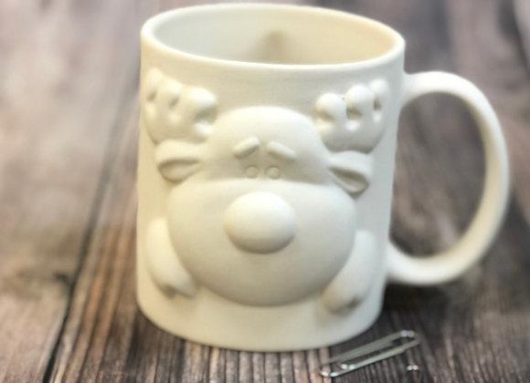 Reindeer Peek a Boo Mug